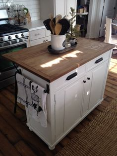 I have realized that every time I post a picture of my kitchen island, people want to know where I purchased it from.  And although I did purchase it from a big box store, I always have a hard time wanting to tag it because I did so many changes to it that you wouldn't even recognize it.  And I did write one blog post on what I did to it, but again I realized I wasn't all that thourough in explaining it ... Continue Reading  »