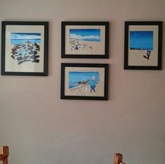Artists prerogative, don't they look great as a collection on the wall.