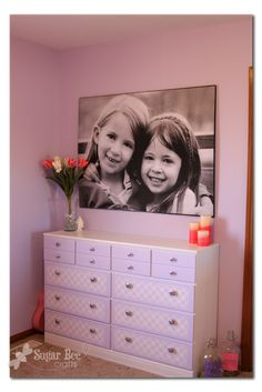 how to make a giant picture for cheap, seriously. Cheap ($11) Def gonna do this!!