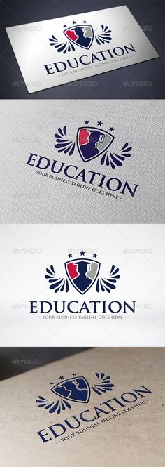 Education Logo Template — Vector EPS #academy logo #graduate • Available here → https://graphicriver.net/item/education-logo-template/6329333?ref=pxcr