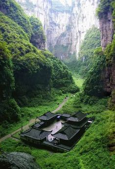 """sobore on Twitter: """"The temple at Wulong Natural Rock Bridges in Japan #travel https://t.co/ZpjH6r469U"""""""