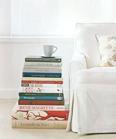 Books as Side Table