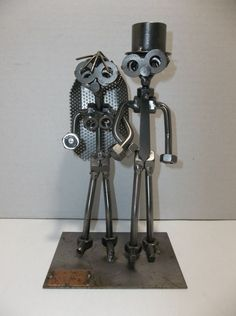 Hinz & Kunst Metal Art BRIDE And GROOM Sculpture Das Original GERMANY