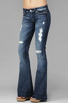 Seven Jeans  Jiselle Phenomenal Slim Fit Flare in Medium Destroyed Morea  PRICE: $245.00     PRODUCT ID: 6677 / SKU: AU0298525S