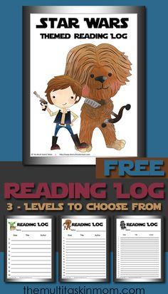 Star Wars Themed Reading Logs are perfect for tracking what your children are reading