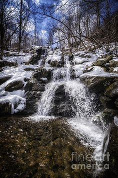Dark Hollow Falls - Joan Carroll. #waterfalls In #Shenandoah National Park. To view or purchase prints, canvases, cards or phone cases visit joan-carroll.artistwebsites.com THANKS!