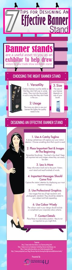 7 Tips for Designing an Effective #Banner Stand #infografía