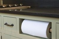 Paper Towel Cubby..remove a drawer and install paper towel holder...Clever
