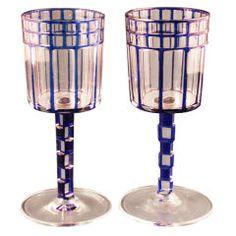Pair Wine Glasses by Otto Prutscher, ca.1915