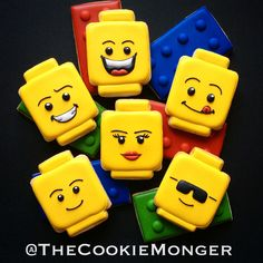 Lego Cookies ~ The CookieMonger ~ We can turn any idea into awesome cookies!  Email thecookiemonger@outlook.com.
