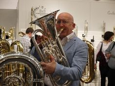 Steven Mead with a Besson Prestige euphonium