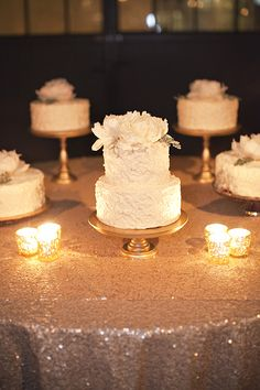 White Wedding Cakes with Fresh Peonies