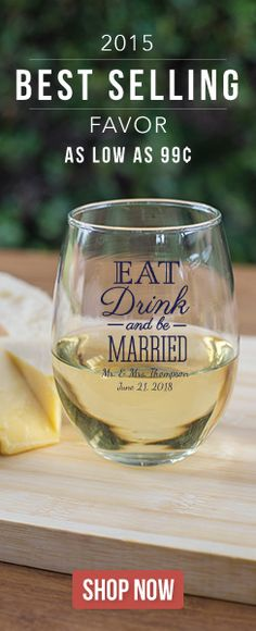 Personalized glass favors