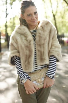 If only we could wear fur like this without looking totally rediculous or pretencious!