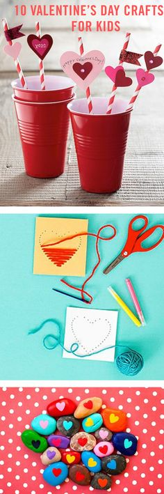 Yarn cards, window clings, heart necklaces, and paper garlands are just a few of the many love-themed DIYs you can craft with your kids this February. You can decorate your home with them, or your kids can take them to school to give to friends on Valentine's Day.