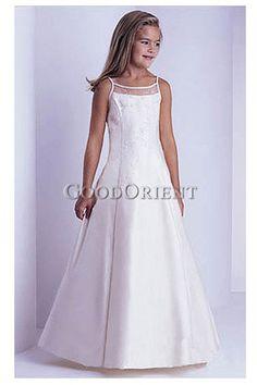Pretty White Lace Flower Girl Dress