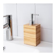 DRAGAN Soap dispenser IKEA Bamboo is a durable, natural material. Easy to refill as the dispenser has a wide opening.