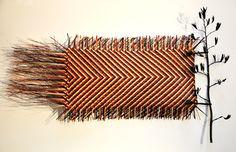 art weaving basketry  flax weavingbasket weavinghammockwall     jess paraone contemporary maori weaver harakeke sculptural wall      rh   pinterest