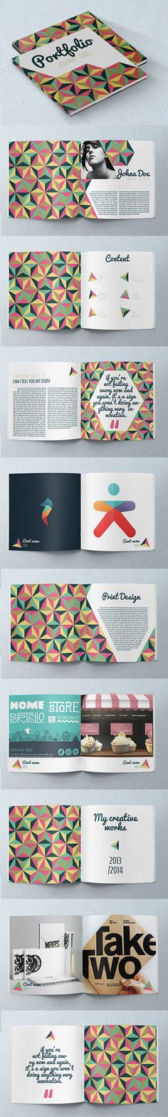 Portfolio inspiration Good: design and page layout, colour choices, and inspirational quotes To Be Better: no triangles, different font