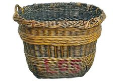 One Kings Lane - Fall in Provence - Antique French Grape Harvesting Basket