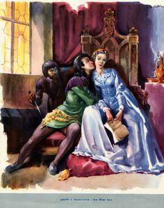 "Cover of the pamphlet for Raffaello Matarazzo's ""Paolo e Francesca"" (1949), starring Odile Versois (as Francesca da Rimini), Amando Francioli (as Paolo Malatesta) and Andrea Checchi (as 'Gianciotto')."