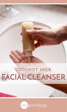 Coconut milk is packed with fatty acids and vitamins that are great for skin! Learn how to make a coconut milk facial cleanser for glowing skin!