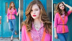 Pink + Orange -- great weekend / errand outfit.