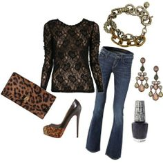 Leopard date night outfit