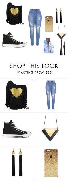 """Never lose heart!"" by cute-outfits25 on Polyvore featuring Converse, Yves Saint Laurent and Forever 21"