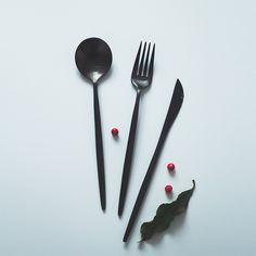 Spoon Knife, Knife And Fork, Food Illustrations, Portugal, Stainless Steel, Store, Tableware, Black, Design