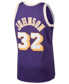 Mitchell   Ness Men s Magic Johnson Los Angeles Lakers Hardwood Classic  Swingman Jersey - Purple S c983cafed