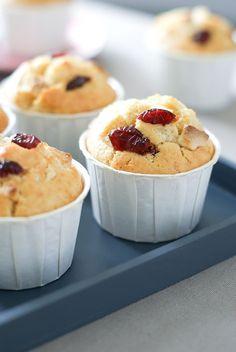 Muffins Cranberry & Chocolat Blanc