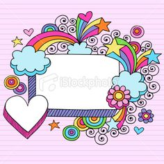 Illustration about Psychedelic Rectangle Frame with Hearts, Stars, and Flowers Notebook Doodles Vector Illustration on Lined Paper Background. Illustration of funky, psychedelic, clip - 12142554 Doodle Frames, Doodle Art, Banners, Boarder Designs, Notebook Doodles, Japanese Typography, Heart Frame, Typography Poster, Typography Design