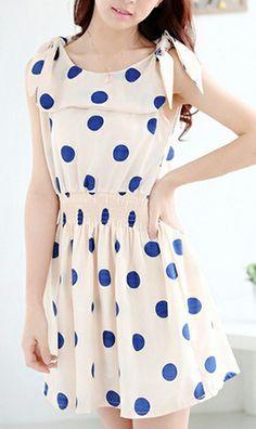 Spot chiffon dress A052  very nice and stylish