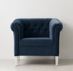 Paige Tufted Velvet Tub Chair