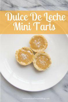 These two-bite Dulce De Leche Mini Tarts are easy and delicious!
