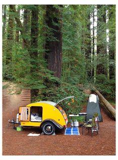 Teardrop Camper Trailer, Tiny Camper, Camper Life, Happier Camper, Teardrop Camper Interior, Tiny Trailers, Small Trailer, Camper Trailers, Rv Campers