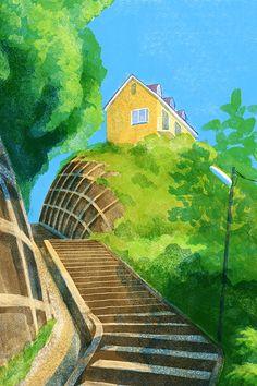 横須賀・三浦半島の風景 田浦崖の上のアパート