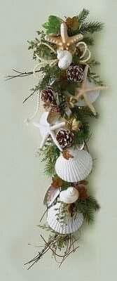 Coastal Twist on a Festive Wreath