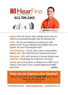 Why Choose Hear Fine? Tell us how we can improve your hearing and receive $100.