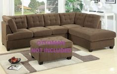 2 Pc Truffle Finish Sectional Sofa Set in Waffle Suede Material by H-M Shop, http://www.amazon.com/dp/B005ONCJ8Y/ref=cm_sw_r_pi_dp_r40rrb1QVNYF3