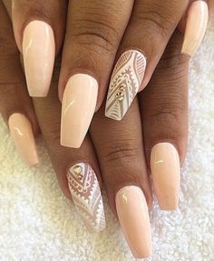Accentuate your nail art with these beautiful patterns with diamonds for added shine.