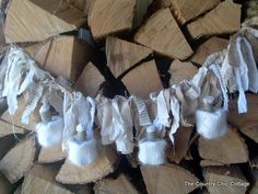 Shabby Pumpkin Fall Garland ~ * THE COUNTRY CHIC COTTAGE (DIY, Home Decor, Crafts, Farmhouse)