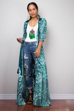 Boho Summer Dress Bohemian Garden Party Dress Smocked Waist Shirt Dress with half sleeves Gypsy duster Green Summer Dresses, Bohemian Summer Dresses, Boho Dress, Boho Chic, Bohemian Mode, Bohemian Lifestyle, Dresses For Teens, Casual Dresses, Maxi Dresses