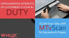 Safeguard Interests of your Customers. Scan your site for #spyware & #trojans with #MTvScan . https://www.webhosting.uk.com/mtvscan.php #defense #DataSecurity