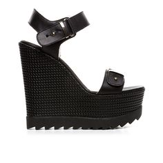 Code: 850G12 Heel height: 13 cm www.mourtzi.com #wedges #black_wedge #musthave