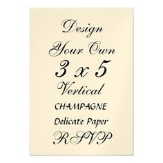 This DealsDIY 3 x 5  CHAMPAGNE Delicate Paper Personalized Invitationsyou will get best price offer lowest prices or diccount coupone