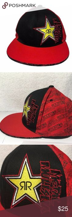 Rockstar Energy Metal Mulisha Fitted Cap Hat S-M Make a bold statement with this awesome looking hat!  Rockstar Energy Drink and Metal Mulisha teamed up to make this kickin' hat. Made by Flex Fit  Fitted size small medium.  Made of 98% cotton and 2% elastine. Flex Fit Accessories Hats