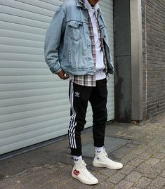 men's street style outfits for cool guys Mode Outfits, Casual Outfits, Men Casual, Fashion Outfits, Fashion Styles, Casual Wear, Streetwear Mode, Streetwear Fashion, Urban Fashion