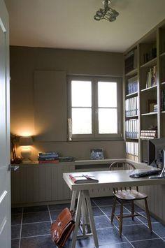 thuis kantoor, kastenwand